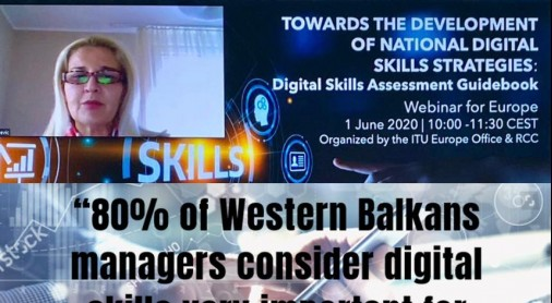 Tanja Miščević, Deputy Secretary General of the Regional Cooperation Council (RCC) at the webinar on Development of National Digital Skills Strategies, co-organized by RCC and International Telecommunication Union (ITU)