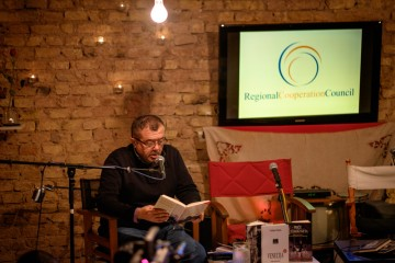 Literary night with Vladimir Pistalo in Sarajevo, December 2014 (Photo: RCC/Amer Kapetanovic)