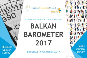 RCC presents Balkan Barometer 2017 on 9 October 2017 in Brussels. (Photo: RCC)