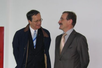 RCC and OSCE Secretary Generals, Hido Biščević (right) and Marc Perrin de Brichambaut, respectively, met in Sarajevo to discuss priority areas of cooperation, 17 March 2008. (Photo RCC/Sead Filipović)
