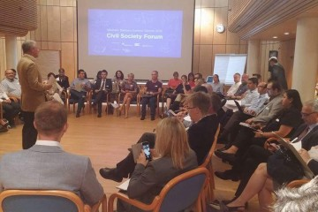 Western Balkans Civil Society Forum takes place in Vienna in 26 August 2015. (Photo: Selma Ahatovic-Lihic)