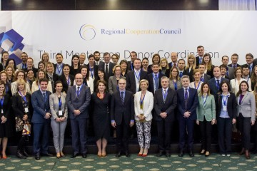 Participants of the Third Meeting on Donor Coordination in the Western Balkans, organized by RCC on 16 March 2017, in Sarajevo, BiH. (Photo: RCC/Haris Calkic)