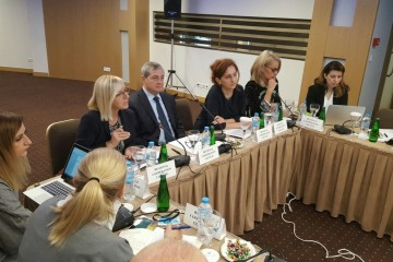 The RCC team, headed by the organisation's Deputy Secretary General, Gazmend Turdiu, at the 9th meeting of the SEE 2020 Coordination Board, in Athens, Greece on 27 October 2017. (Photo: RCC/Nedima Hadziibrisevic)