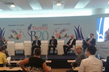 Regional Cooperation Council at the 'Integrating South Eastern Europe to Global Markets' session at B20 Conference in Ankara, Turkey, 3-5 September (Photo: RCC/Ratka Babic)