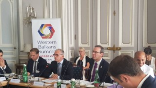 RCC Secretary General Goran Svilanovic presented key results of the implementation of Multi-Annual Action Plan on Regional Economic Area at the meeting of Ministers of Economy of the London Western Balkans Summit held in Vienna, 4 July 2018 (Photo: RCC/Maja Hadjiska Trendafilova)